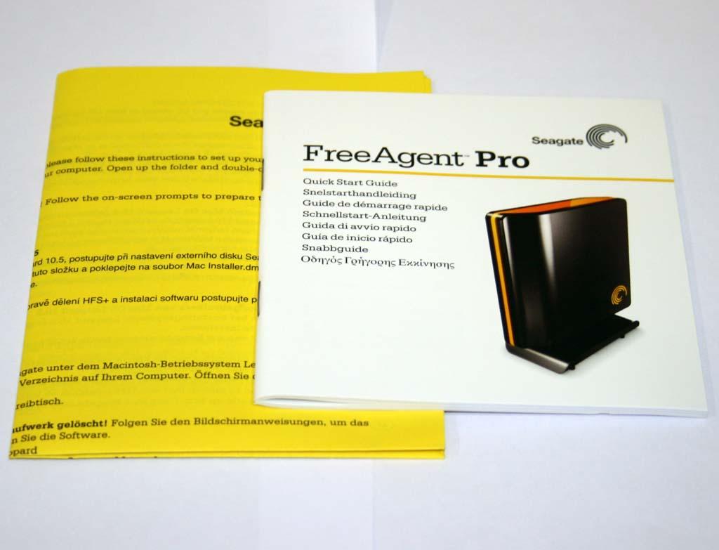 seagate freeagent pro 500gb manual