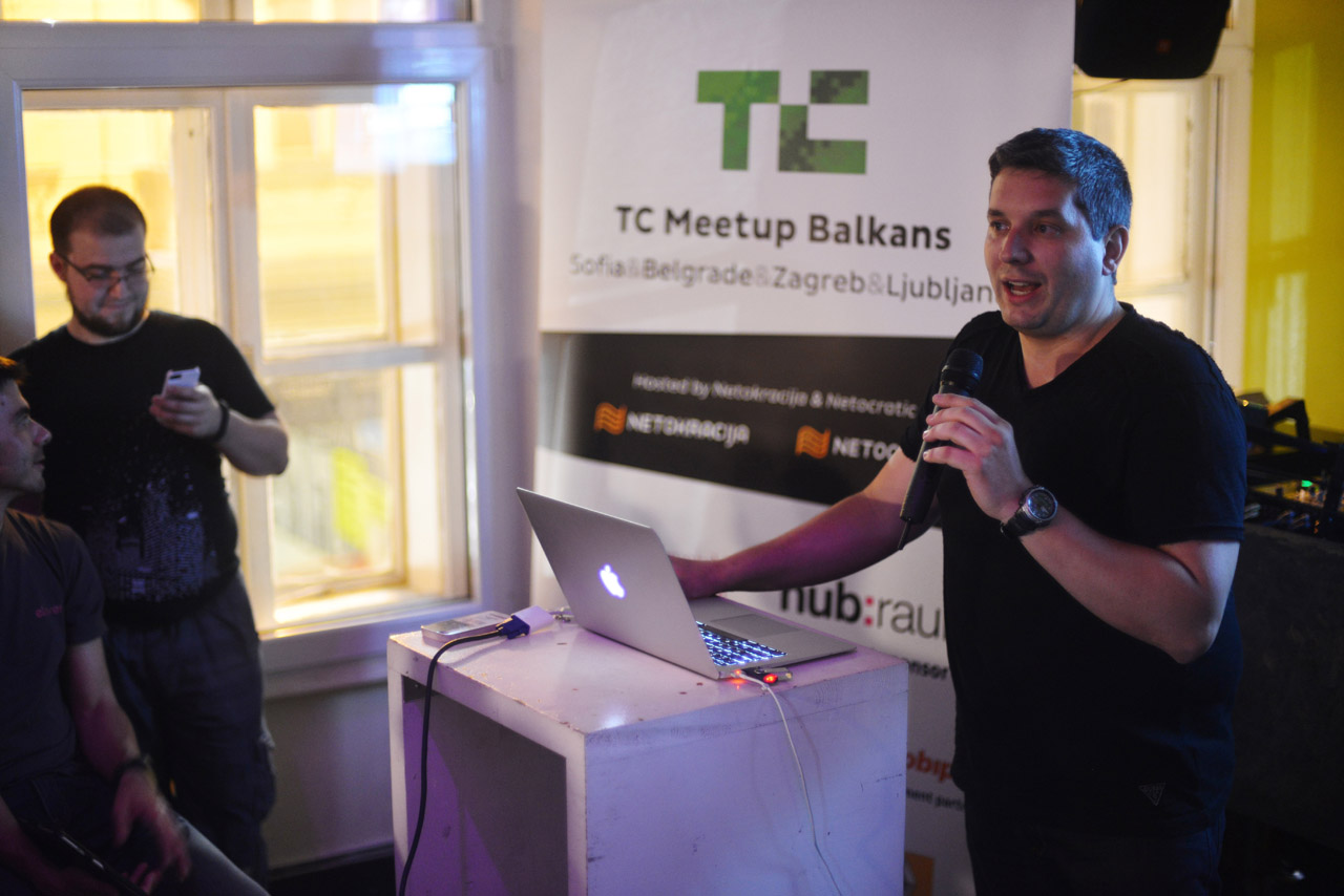 John Biggs na TechCrunch Meetupu u Zagrebu