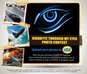 "Gigabyte ""Through My Eyes"" Facebook Photo Contest"