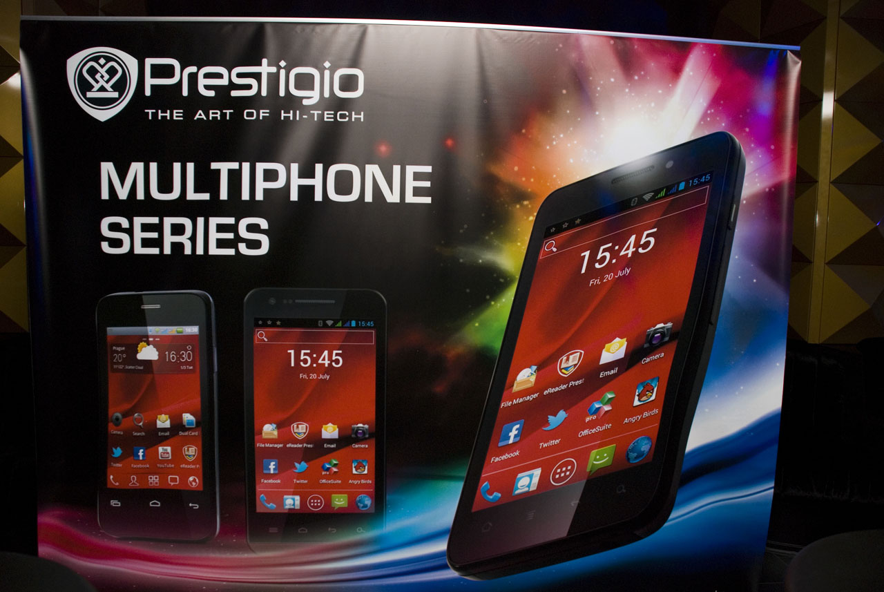 Prestigio Multiphone launch