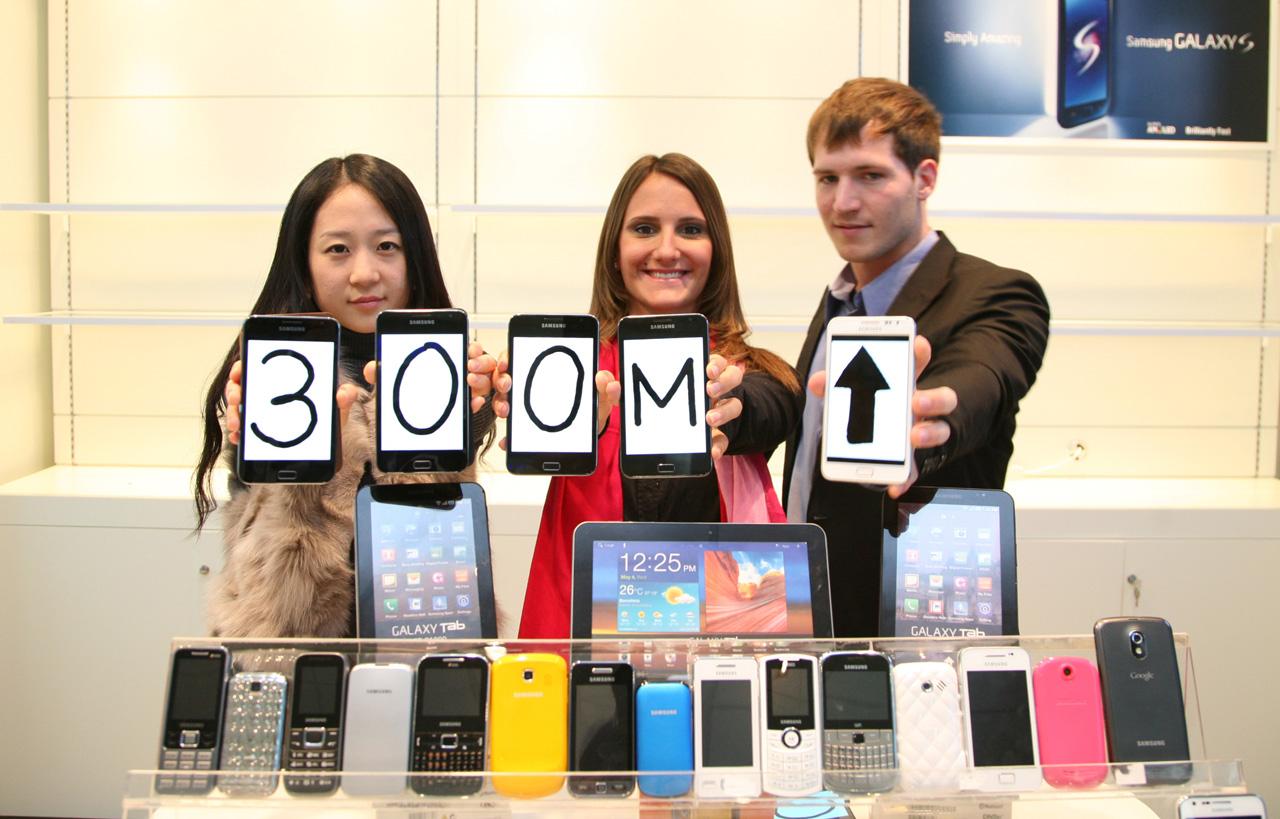 Samsung obilježio 300 milijuna prodanih mobilnih uređaja u 2011. godini
