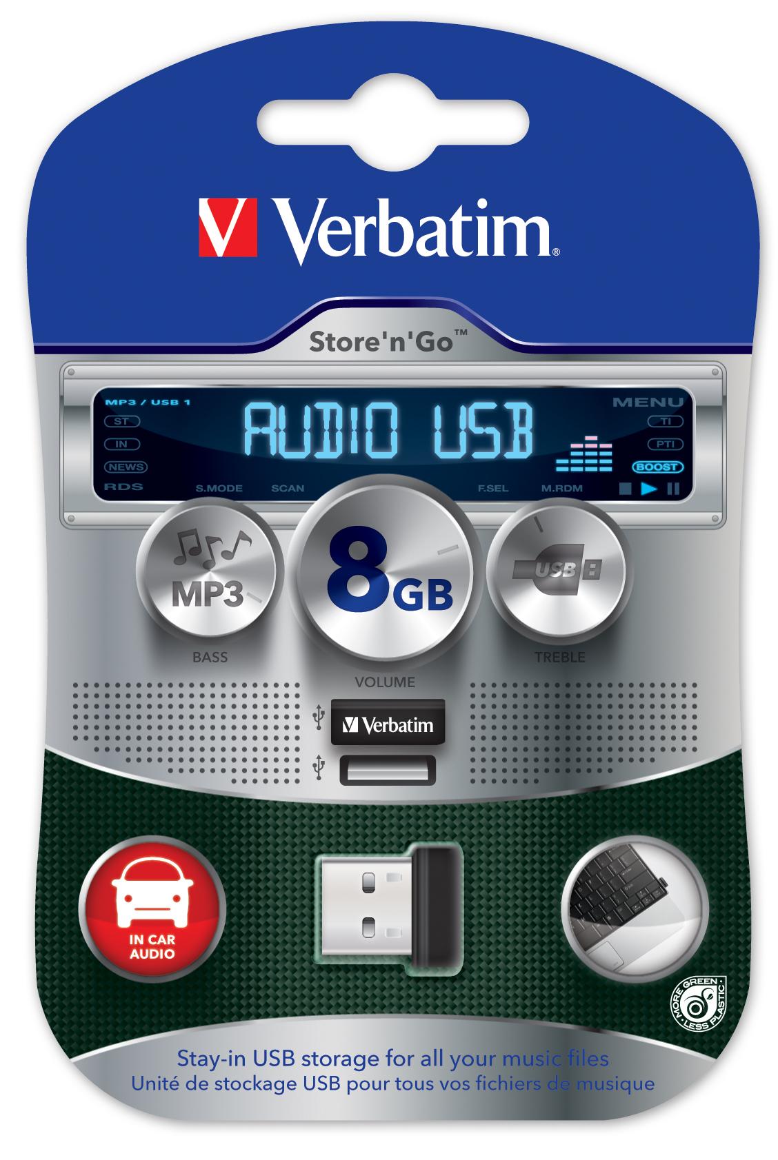 Verbatim Store 'n' Go USB Car Audio Storage