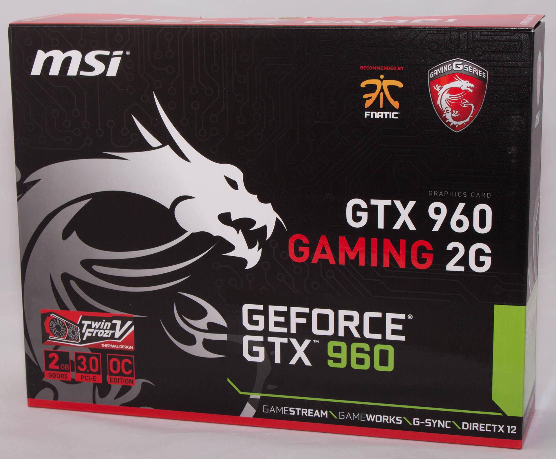 MSI GTX960 Gaming 2G test