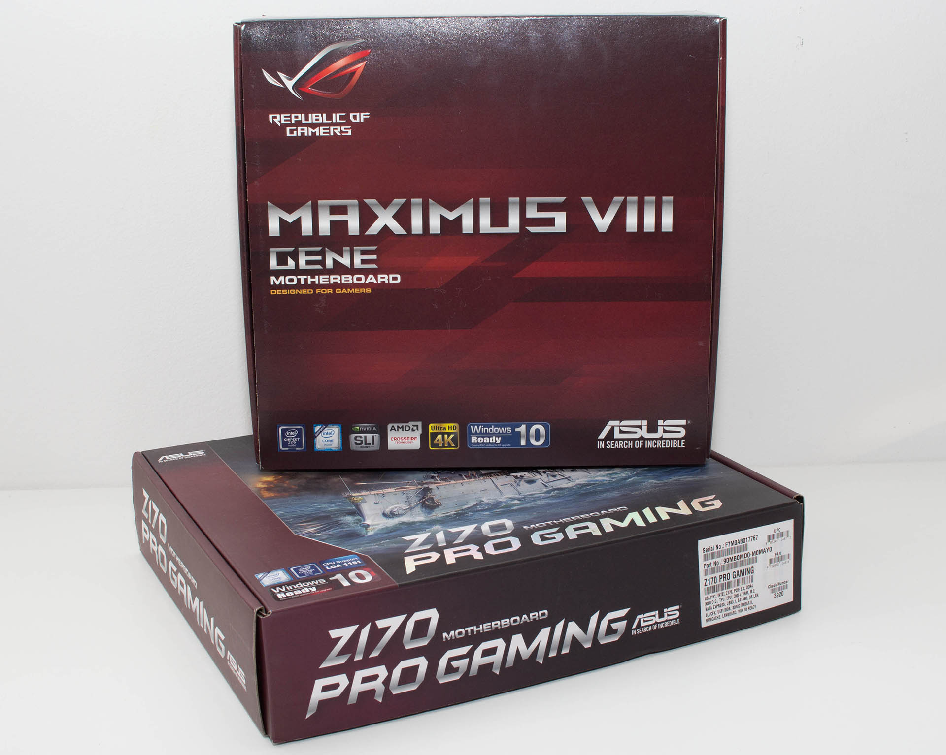 ASUS Maximus VIII Gene & Z170 Pro Gaming test