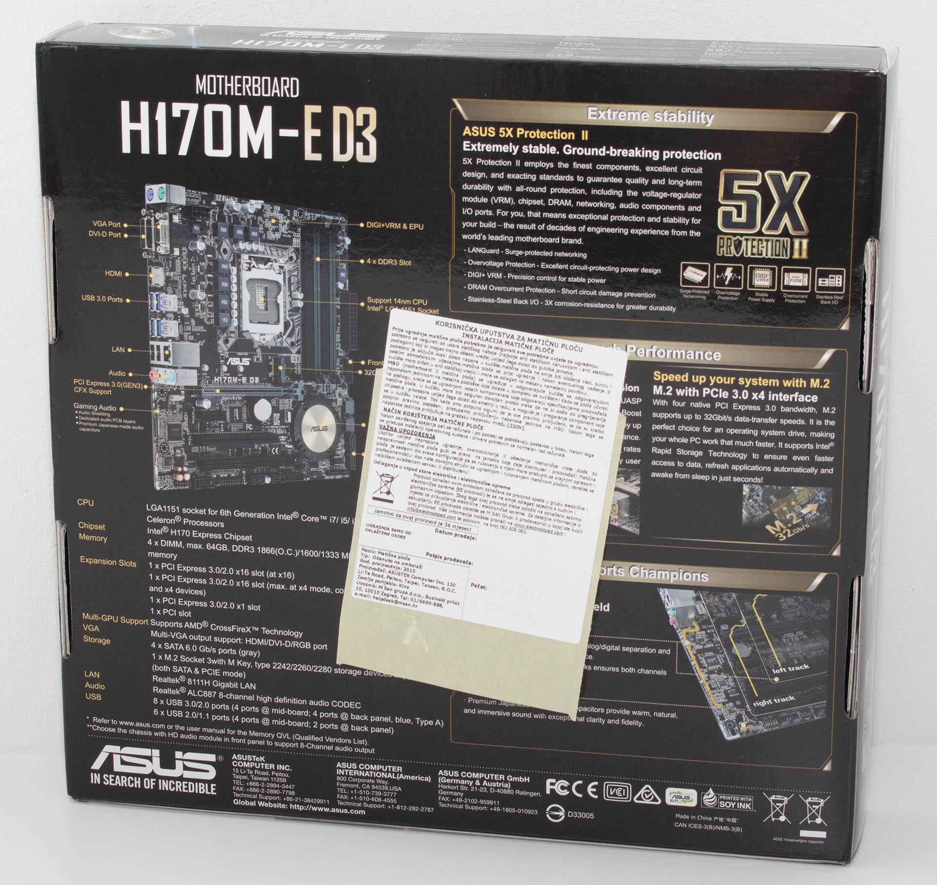 PC Ekspert - Hardware EZine - ASUS H170M-E D3 & Z170-A test