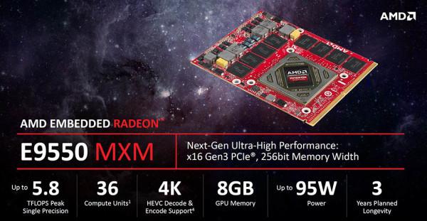 AMD E9260 & E9550 – Embedded Polaris