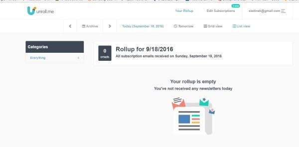 Unroll.me servis za čistiji e-mail sandučić