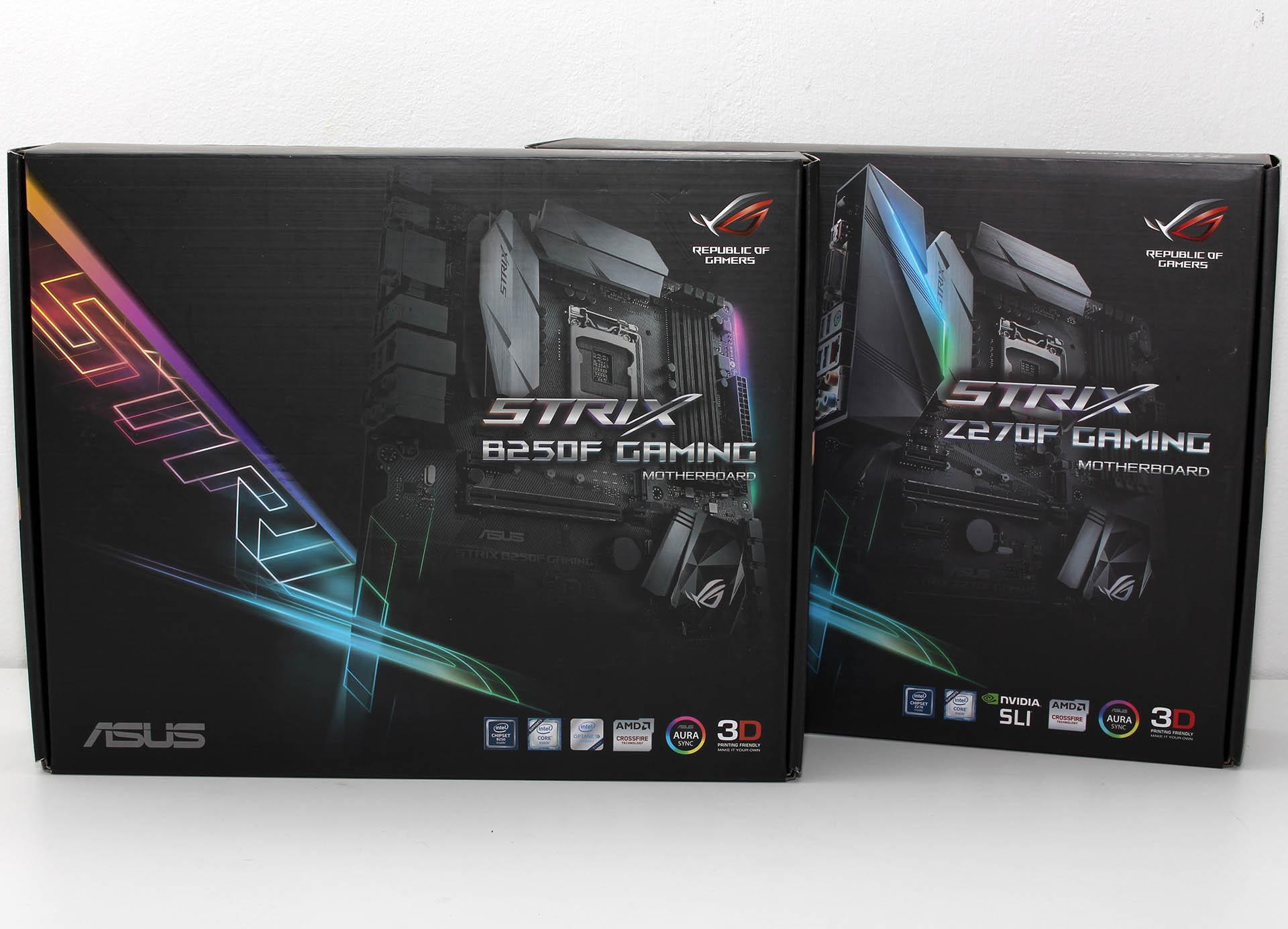 ASUS STRIX Z270F Gaming & B250F Gaming recenzija