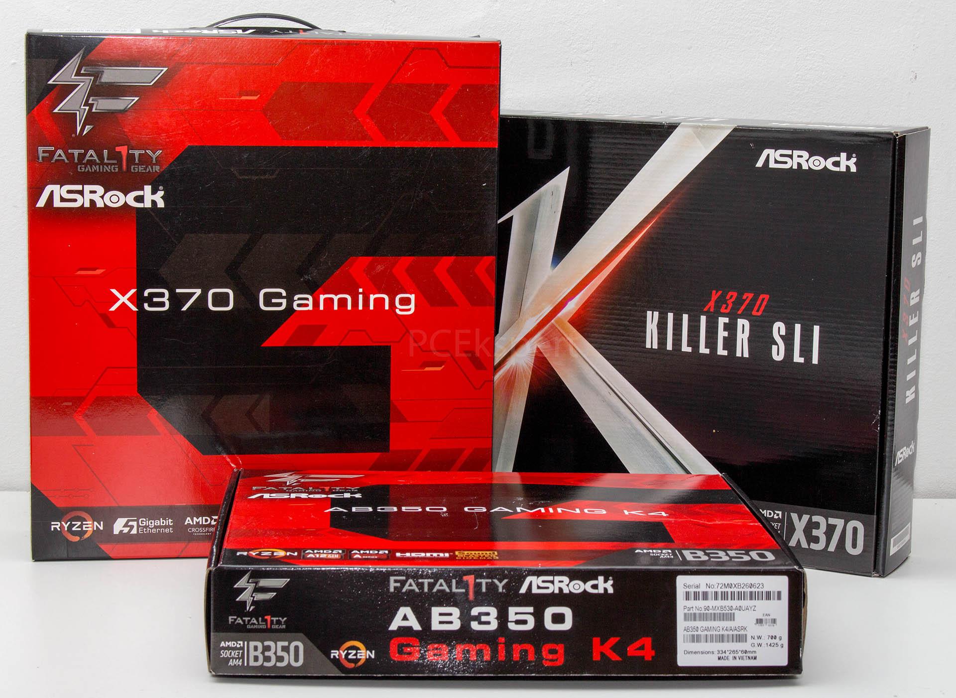 ASRock Fatal1ty X370 Gaming, X370 Killer SLI & Fatal1ty AB350 Gaming K4 recenzija