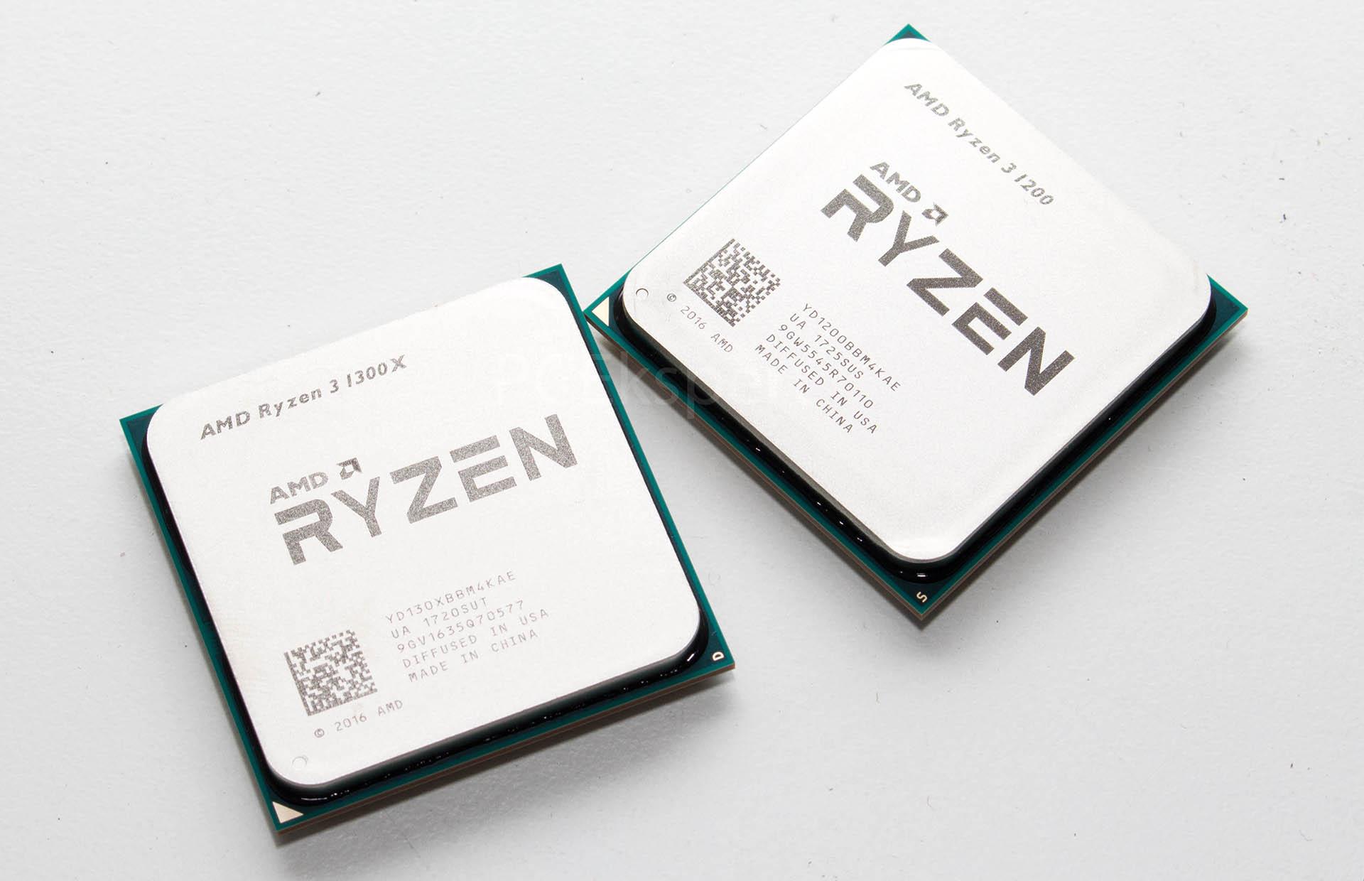 AMD Ryzen 3 1300X & 1200 recenzija