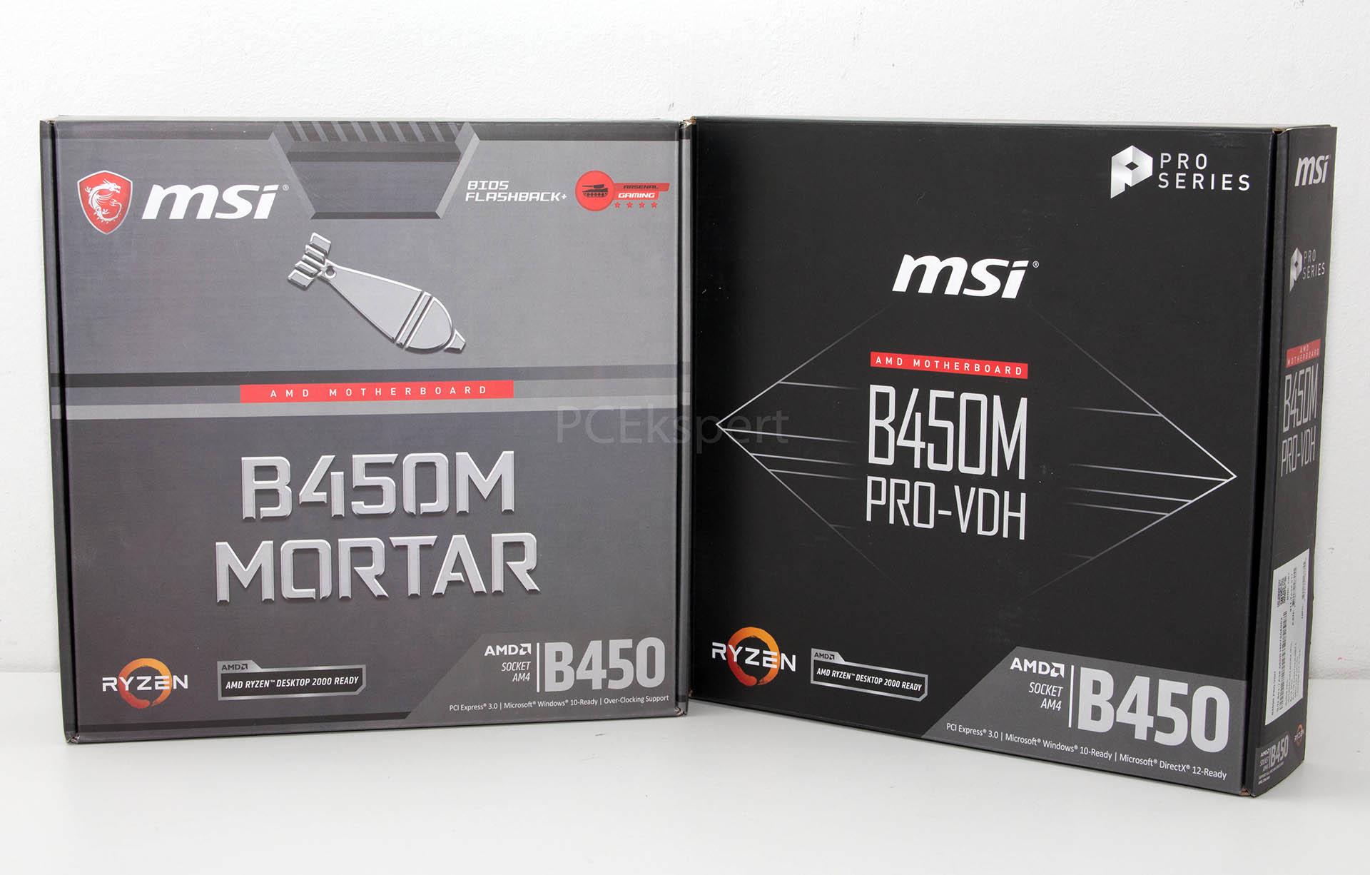 MSI B450M Mortar & B450 PRO-VDH recenzija
