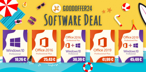 Ljetna ponuda – Windows 10 za 10,26 €, Office 2016 za 25,43 €, a oboje za samo 30,39 €