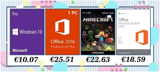 Velika rasprodaja: Windowsi 10 Pro za 10.07 € i Office 2016 Pro za 25.51 €