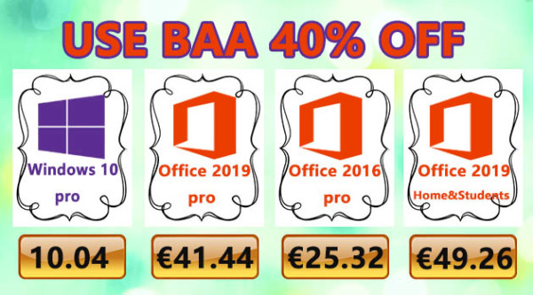 Ljetne uštede na softveru – Windows 10 Pro za 10,04 €, Office 2016 Pro za 25,32 € i Office 2019 Pro za 41.44 €