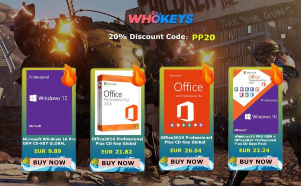 Windowsi 10 PRO za ispod 10 € kod Whokeysa