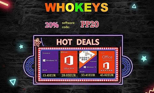 Licence Windowsa za ispod 14 € na Whokeysu!