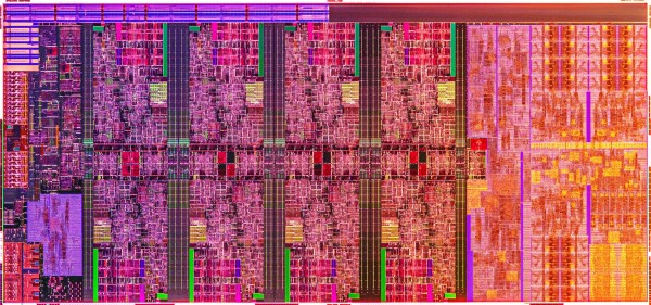 A photo shows the wafer of Intel's new 10th Gen Intel Core H-ser