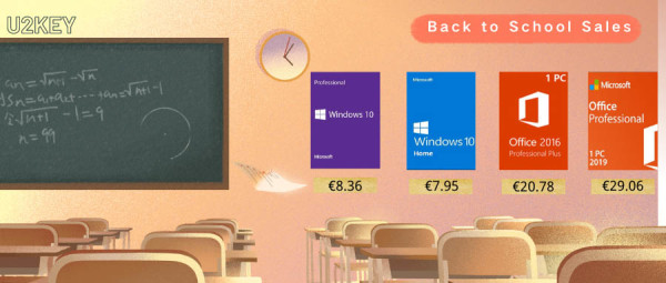 Back to school rasprodaja: Windowsi 10 Pro za 8,36€ i Office 2016 Pro za 20,78€