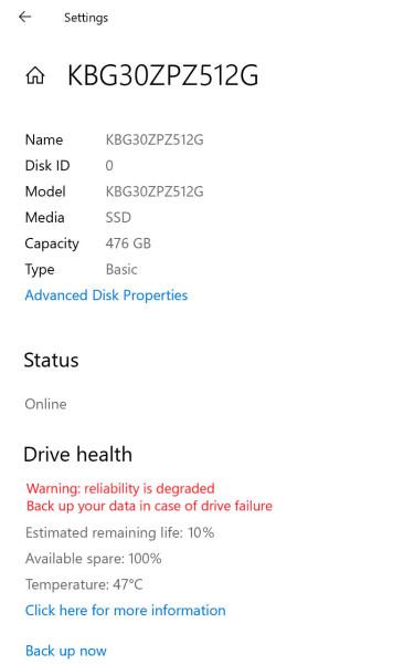Windows 10 pomaže nam znati je li SSD oštećen ili radi kao urica -1