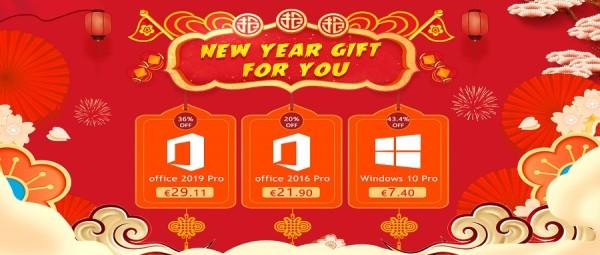 Novogodišnji poklon za vas: Windowsi 10 Pro za 7,24 € i Office 2016 Pro za 21,90 €