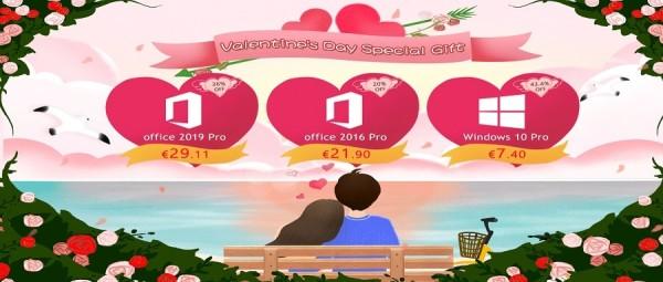 Specijalan poklon za Valentinovo: Windowsi 10 Pro za 7,40 €