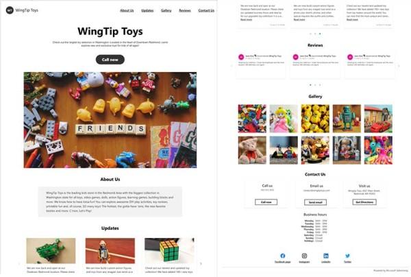 Microsoft ima besplatne alate za izradu web stranica za male tvrtke