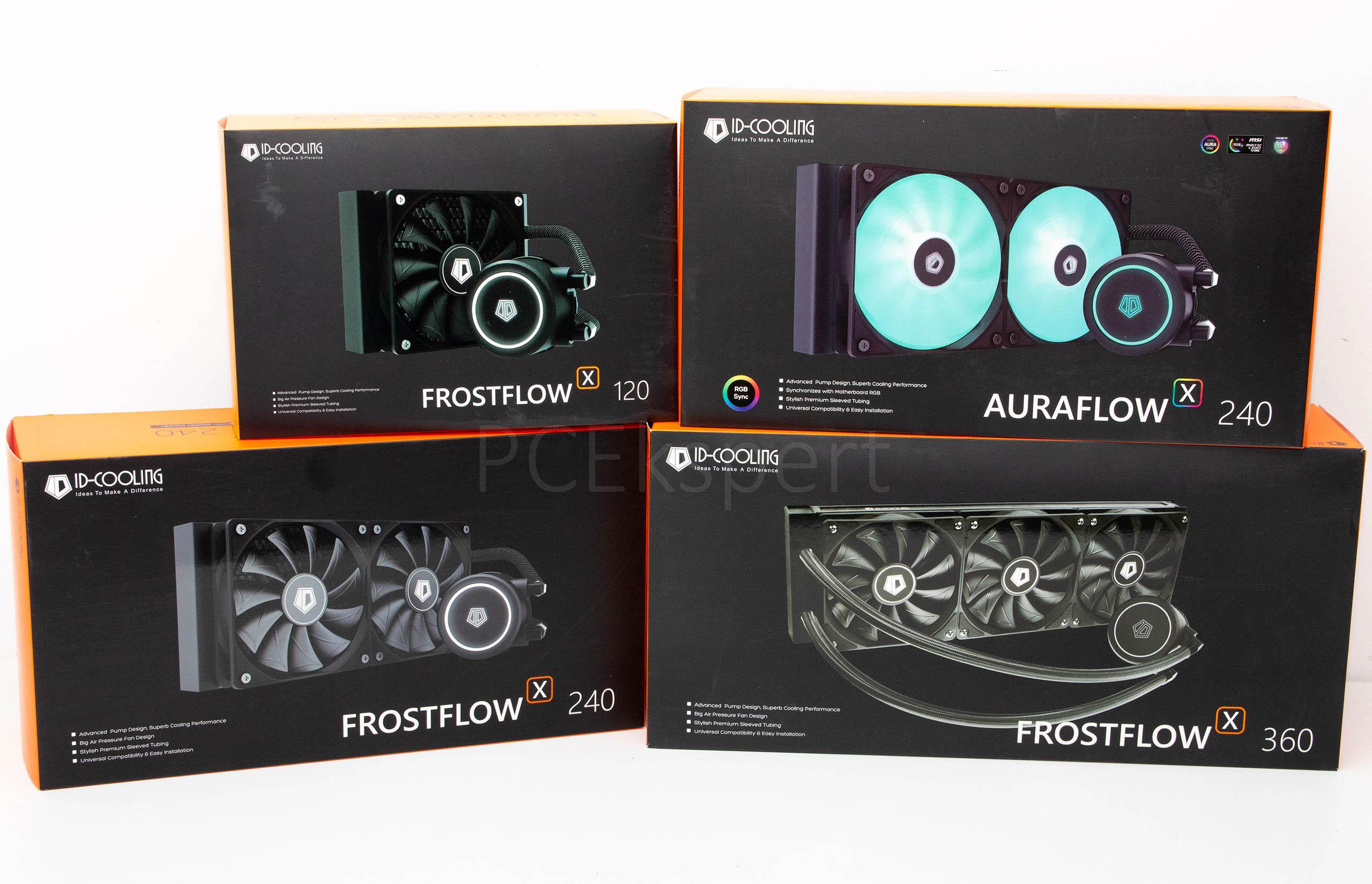 Brzi test - ID-Cooling Frostflow X 120, 240, 360 & Auraflow X 240