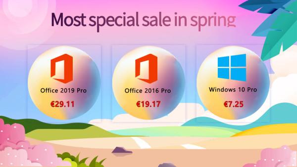 Specijalna proljetna rasprodaja – Windowsi 10 Pro za 7,25 €, a Office 2019 Pro za 29,11 €