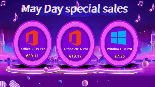 Specijalna prvosvibanjska rasprodaja – Windowsi 10 Pro za 7,25 €, a Office 2019 Pro za 29,11 €