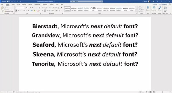 Koji font zamjenjuje Calibri kao zadani u Office 365 (2)