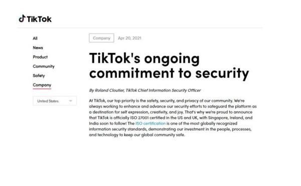 TikTok dobio certifikat ISO 27001 o sigurnosti informacija_2