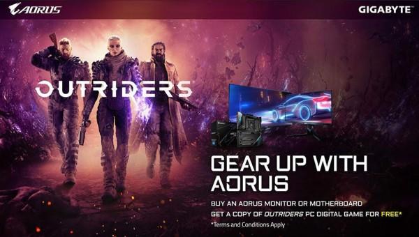 Uz odabrani Gigabyte monitor ili matičnu ploču osvojite Outriders igru