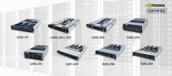 Gigabyteovi GPU serveri