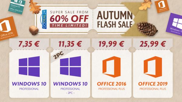 Nabavite Windowse 10 za samo 7,35 € u jesenskoj rasprodaji na Godeal24.com