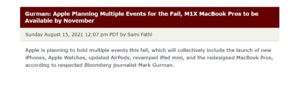 Bit će više Appleovih jesenskih konferencija. 2