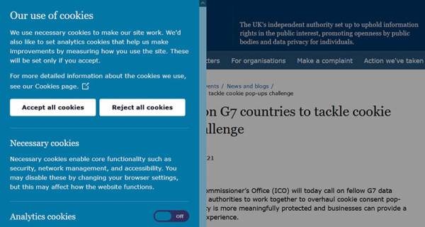 Jeste li umorni od prihvaćanja kolačića koji blokiraju web stranicu _ Snimka zaslona ICO  vlastitog zaslona za prihvaćanje kolačića (pola zaslona)